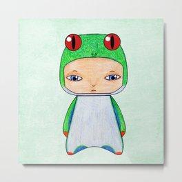 A Boy - Tropical Frog Metal Print