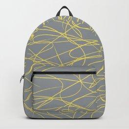 Hand Drawn Scribbles (Pantone Illuminating Yellow and Ultimate Gray) Backpack