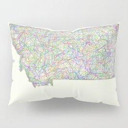 Montana map Pillow Sham