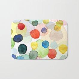 Watercolor drops multicolor Bath Mat