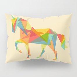 Fractal Geometric Unicorn Pillow Sham