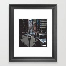 Caught in Denver Framed Art Print