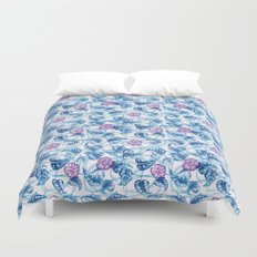 Ipomea Flower_ Morning Glory Floral Pattern Duvet Cover