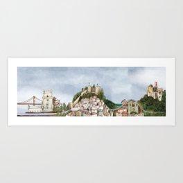 Lisboa landscape Art Print