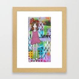 Playful in Pink Framed Art Print