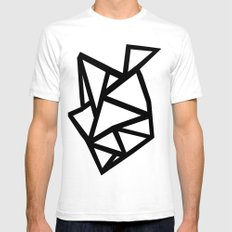 Ab Out Thicker B White SMALL Mens Fitted Tee