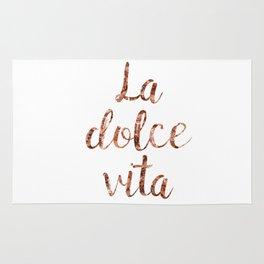 Rose gold La Dolce Vita Rug