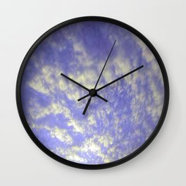 Nothing But Blue Skies Wall Clock