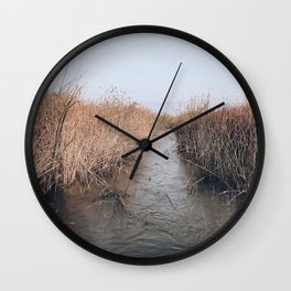 BLUE MOON / Alviso, California Wall Clock
