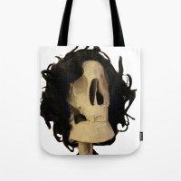 skeleton Tote Bags featuring skeleton by Francesco Mestria
