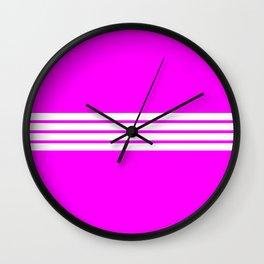 "4 Stripes on Pink ""Girlpower"" Wall Clock"