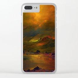 Bergglühen Clear iPhone Case
