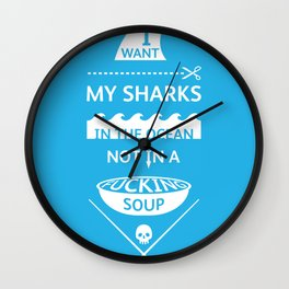 Stop shark finning Wall Clock
