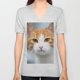 Cat face Unisex V-Neck