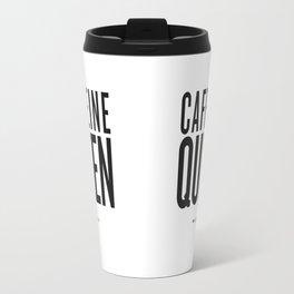 Caffeine Queen - White Travel Mug