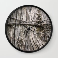 Weathered Knot Wall Clock