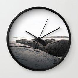 Moeraki Boulders I Wall Clock