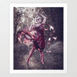 Blood Dress Art Print