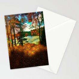 Trees and Shadows in New England Stationery Cards