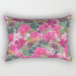 Magenta Geraniums Rectangular Pillow