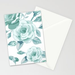 Spring flowers blue all over print gifts beautiful Stationery Cards