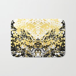 Sukie - abstract gold black and white foil glitter shiny sparkle hipster painting free spirit cosmic Bath Mat