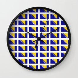 Flag of Bosnia 2 – Bosnian,Bosniak,herzegovinian,bosna,Sarajevo,Balkan,yugoslavia. Wall Clock