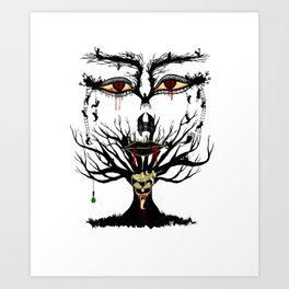 spooky tree Art Print