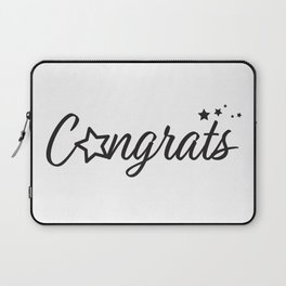 Congrats - Typography Congratulation greeting with stars Laptop Sleeve