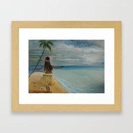 Hula Grass Skirt Framed Art Print