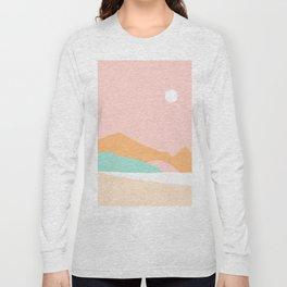 Summer Palette Minimal Seascape 1 Long Sleeve T-shirt