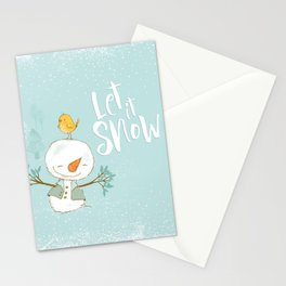 let it snow 4 Stationery Cards