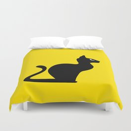 Angry Animals: Cat Duvet Cover