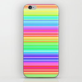 colorful rainbow stripes iPhone Skin