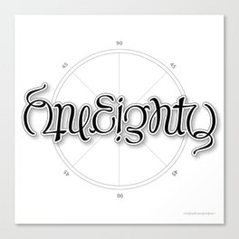 OneEighty Canvas Print
