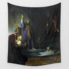 The Raising of Lazarus by Rembrandt (1632) Wall Tapestry