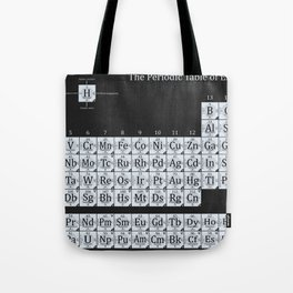Grayscale Periodic Table of Elements Tote Bag