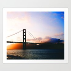 Golden Gate Bridge Sunrise, San Francisco Bay Art Print