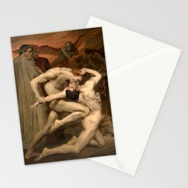 Dante and Virgil in Hell by William-Adolphe Bouguereau Stationery Cards