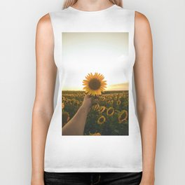 Her Sunflower (Color) Biker Tank