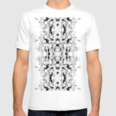 Rings 3 White MEDIUM Mens Fitted Tee