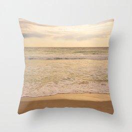 Beach Vintage Throw Pillow