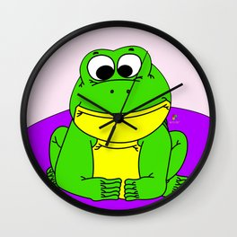 Wide-Eyed Toad Wall Clock
