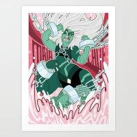 malachite Art Prints featuring Malachite by Rebecca Reynolds
