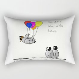 To be a Flying Penguin Rectangular Pillow