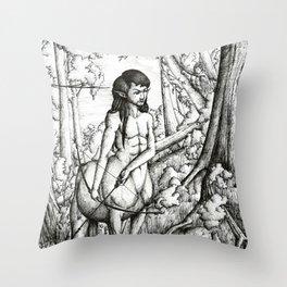 Centaur hunter Throw Pillow