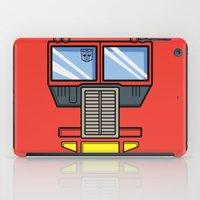 optimus prime iPad Cases featuring Transformers - Optimus Prime by CaptainLaserBeam
