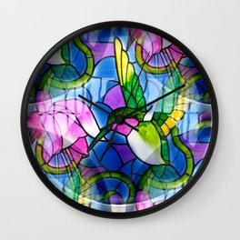 Humming Bird & Fuchsia Wall Clock