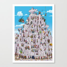 Bubble climbing Canvas Print