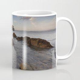 Rocky foreshore at Mumbles pier Coffee Mug